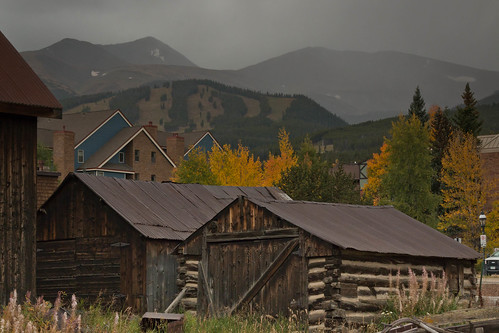 autumn orange usa mountain storm mountains fall leaves clouds buildings dark season landscape golden cabin colorado explore aspen breckenridge