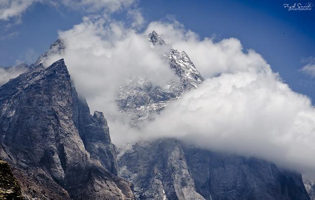 The Shipki La Peak, The view from Khab (at River Sutlej & Spiti confluence)