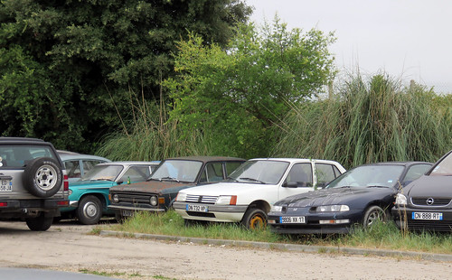 Panhard 24C, Fiat 128, Peugeot 205 and Honda Prelude   by Spottedlaurel