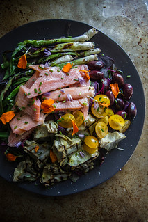 Grilled Artichoke, Smoked Trout and charred Green Onion Salad | by Heather Christo