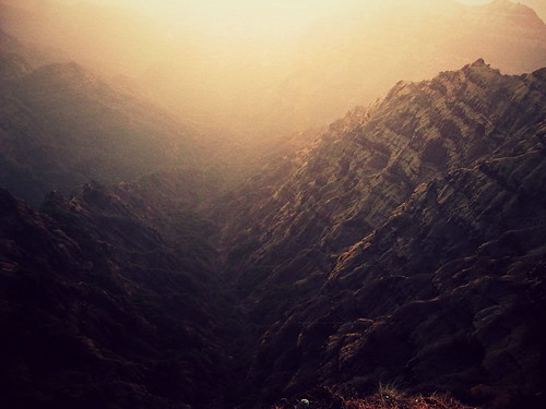 sunset mountain landscape valley mahabaleswar