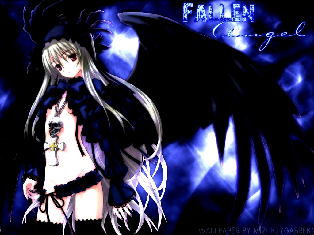 Anime fallen angel wallpaper cool desktop anime fallen ang flickr
