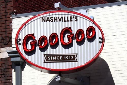 Nashville's Goo Goo Store neon sign