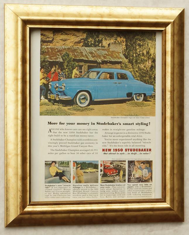 CM056 1950 Studebaker Car Ad Framed DSC04420