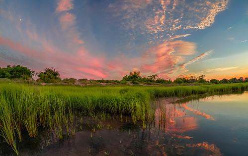 water brooklyn clouds marsh wetland