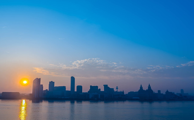 Sunrise, Liverpool Waterfront.