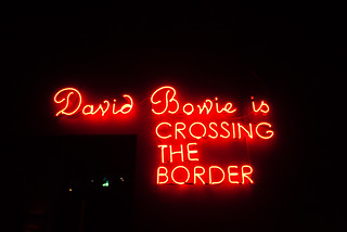 David Bowie is crossing the border | by mrpstr
