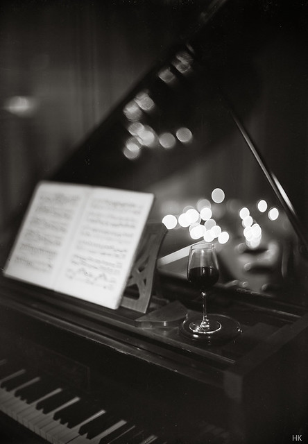The piano has been drinking...