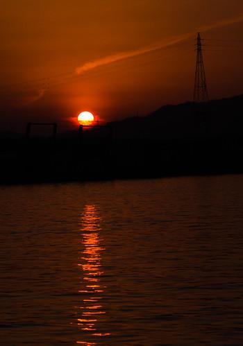 夕日 徳島