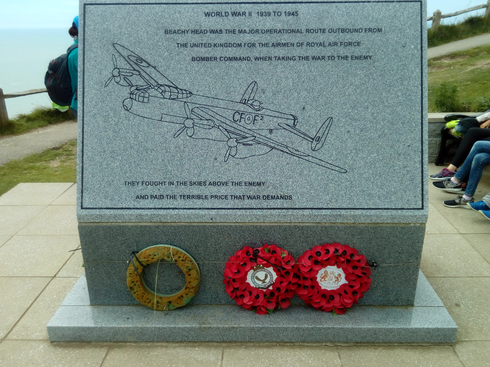 Beachy Head Epitaph for WW2 Airmen