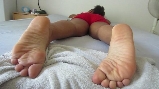 Julie during the massage