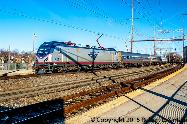Amtrak train 97 ACS64 611 WIL 2015-03-12
