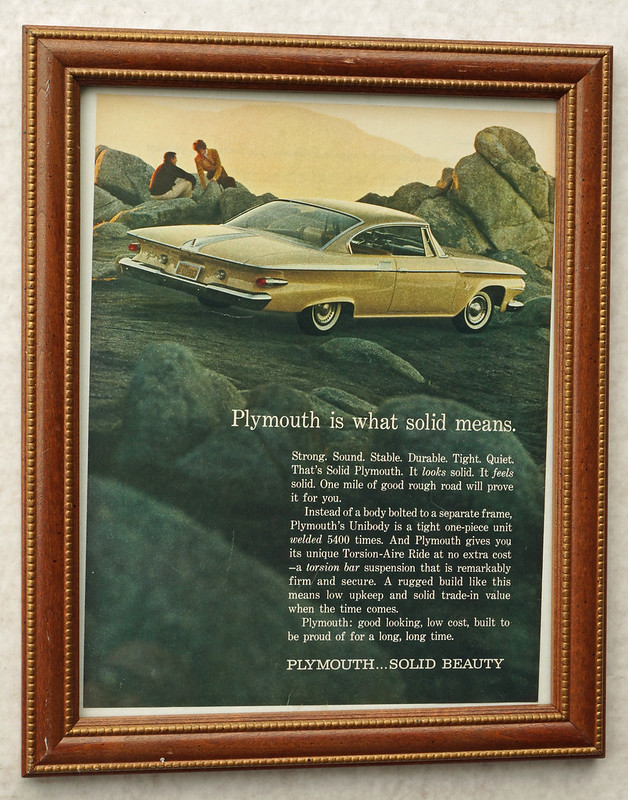 CM034 1960 Plymouth Car Ad Framed DSC04426