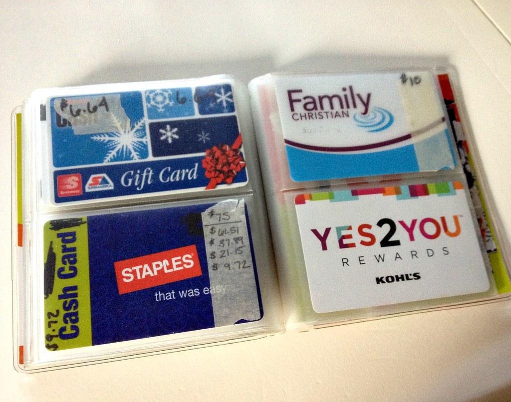 gift card organizer