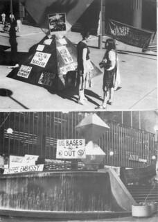 Atom Free Embassy Vigil in Martin Place, Sydney Postcards 7-14 october 1981