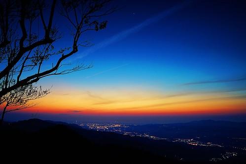 sunset mountain taiwan hills 夕陽 台灣 夕照 黑卡 五分山 山巒 山脈 平溪鄉 瑞芳鎮 氣象雷達站