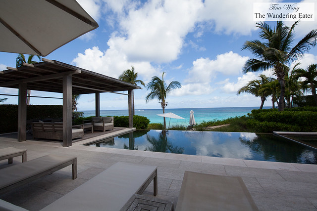 Ocean view with a covered terrace of Four Bedroom Oceanfront Villa