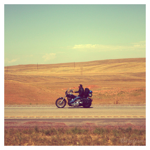 old polaroid highway motorcycles 2006 faded freeway motorcycle polaroids wyoming sturgis gillette easyrider interstate90 motorcycleontheroad