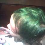 ada, green hair