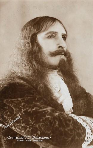 Maxime Desjardins as Charles I in Vingt ans après (1922)