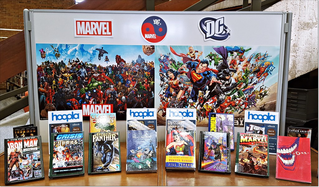 Marvel / DC display