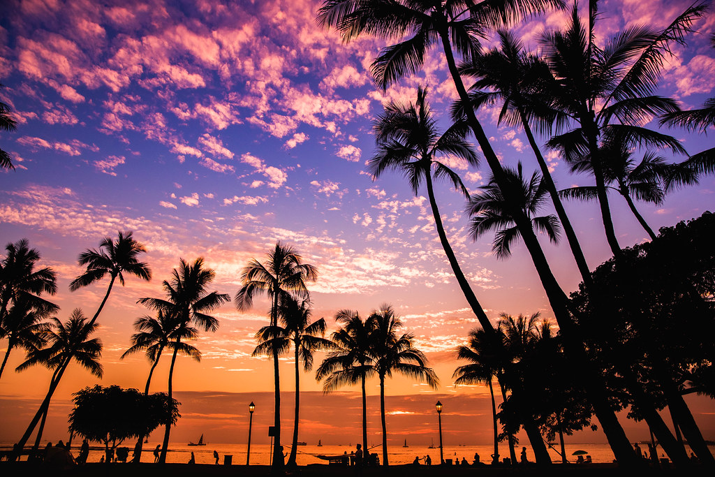 Waikiki Beach Sunset Honolulu Hawaii Anthony Quintano Flickr