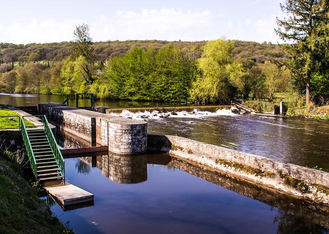 Canal Lock at Abbeye de Bon Repos