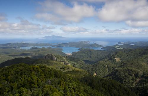 newzealand tramping greatbarrierisland barrier island sea bush cloud aotea