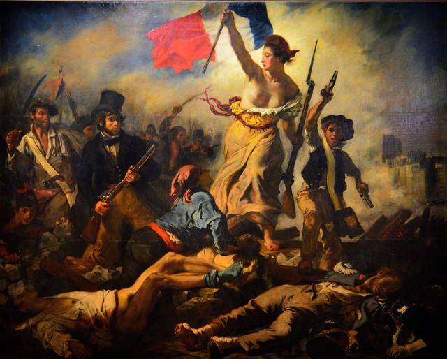 Delacroix / La Liberté Guidant le Peuple / 1830 - 2/8
