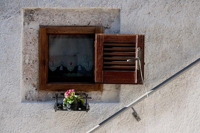 window in Opi, Abruzzo