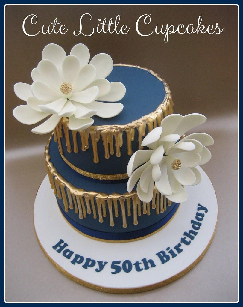 Swell Gold Navy 50Th Birthday Cake Heidi Stone Flickr Funny Birthday Cards Online Inifodamsfinfo
