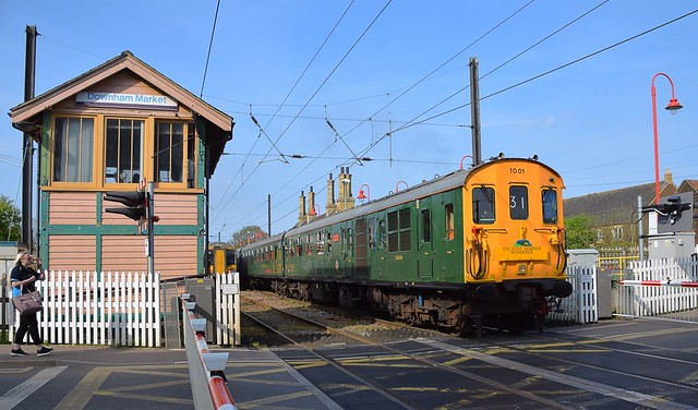 The Hastings Thumper 1001, returning from Kings Lynn, to Hastings, after a visit to Middleton Towers on the former Swaffham Line. 21 04 2018.jpg
