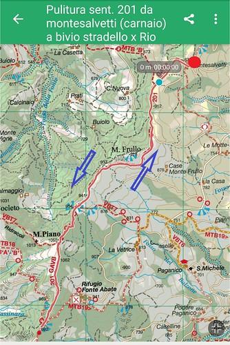 mappa pulitura sentiero 201 | by CAI Cesena