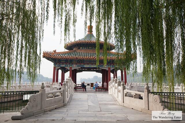 Serene scene  at Beihai Park, Beijing, China