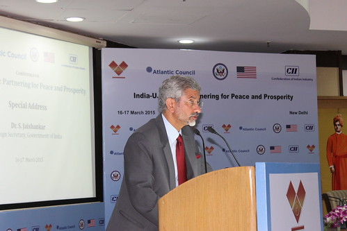 Dr. S. Jaishankar, India's Foreign Secretary, provides special remarks at the conference. These were his first public remarks since assuming his new role.