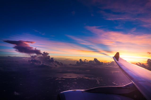 Flying over Tampa - Florida - USA