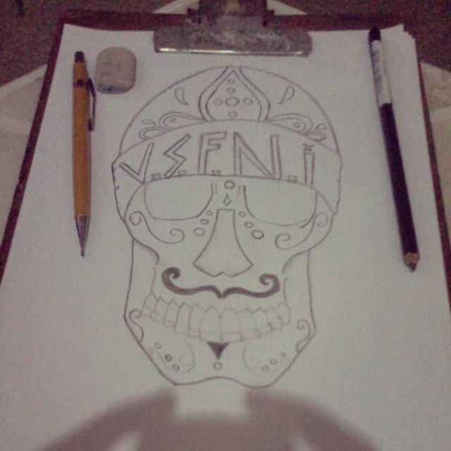 Sketch Desenho Caveira Mexicana Vsfni Dfc Hc Flickr