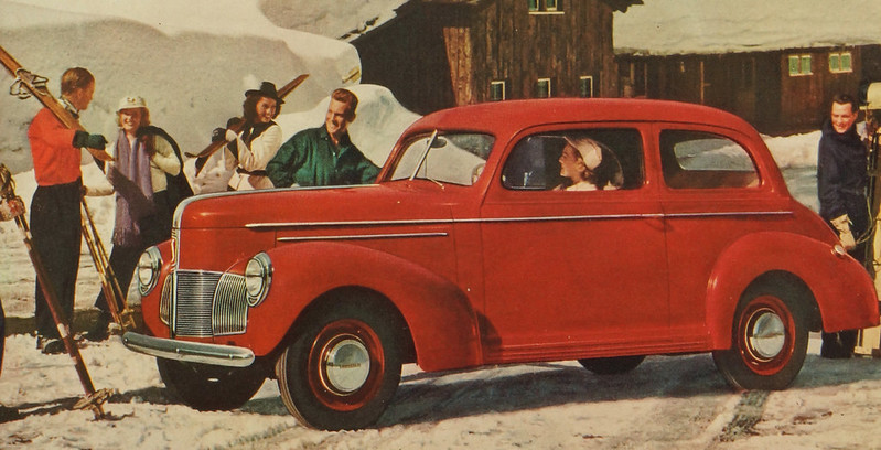 CM022 1940 Studebaker Car Ad Framed DSC04391 crop
