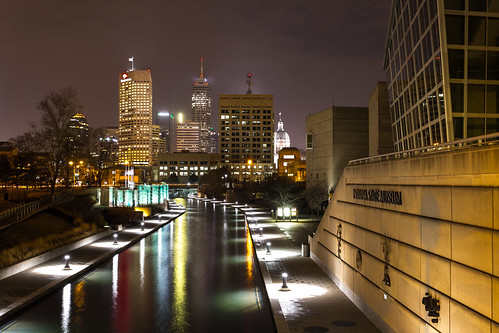 city skyline night midwest downtown cityscape nightscape indianapolis indiana nighttime citylights scape