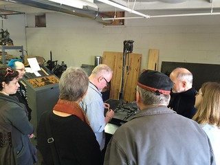 Jeff Shay demonstrating Ludlow at C.C. Stern Type Foundry