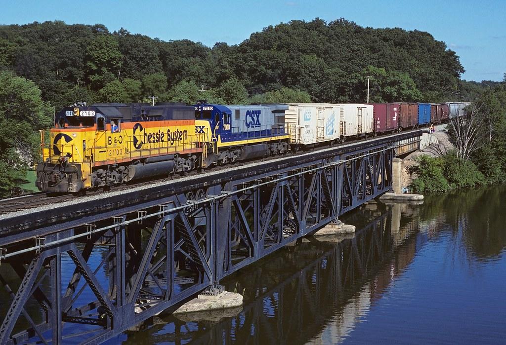 CSX 2103 7010 Thornapple River Bridge Whitneyville MI | Flickr