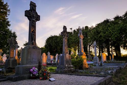 boycetown graveyard grave kilcock kildare ireland sunset evening summer
