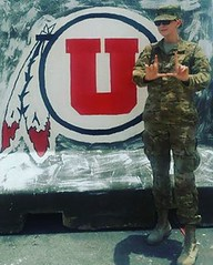 Thanks to senior airman (and current student) Jaycee Baker reppin' the U from the Al Udeid Air Base! Thanks for your service, and #GoUtes!  #UofU #universityofutah @usairforce
