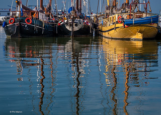 Moored sailboats - Volden, Holland | by Phil Marion (176 million views - THANKS)