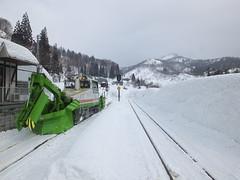 冬は除雪用モーターカーが頻繁に出動する