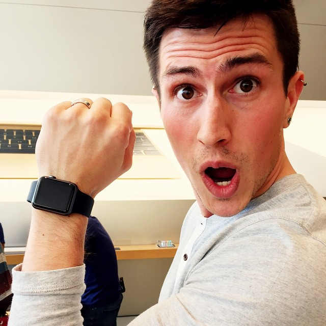 Someone Is Excited About The Apple Watch Applewatch App Flickr