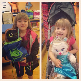 Solidifying her status as the Fun Aunt forever, my sister took the girls to Build-A-Bear while I had lunch with some co-workers. Catie got Toothless in a Jedi costume, Lucy got an Elsa bear. | by poobou