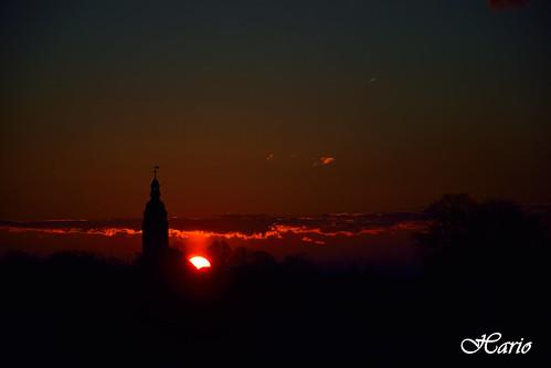 sunset sun sunrise deutschland thüringen nikon sundown ufo niederdorla hario vogtei d3300