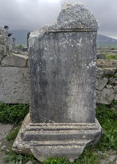 Volubilis: dedication to Antoninus Pius by Lucius Annius Matun