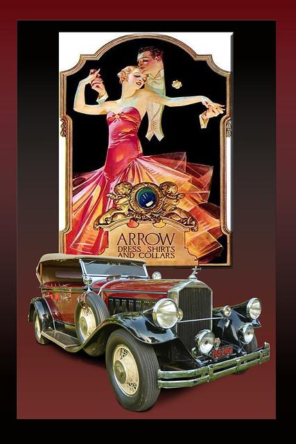 1929 Pierce Arrow 133 4 Passinger Touring